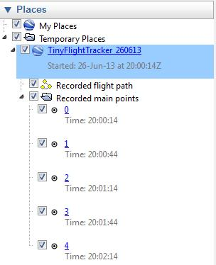 Extended flight data are only available from the tabular view (see below).