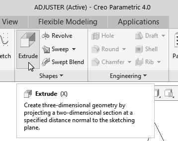 Parametric Modeling Fundamentals 1-9 Step 2: Determine/Set up the Base Solid Feature