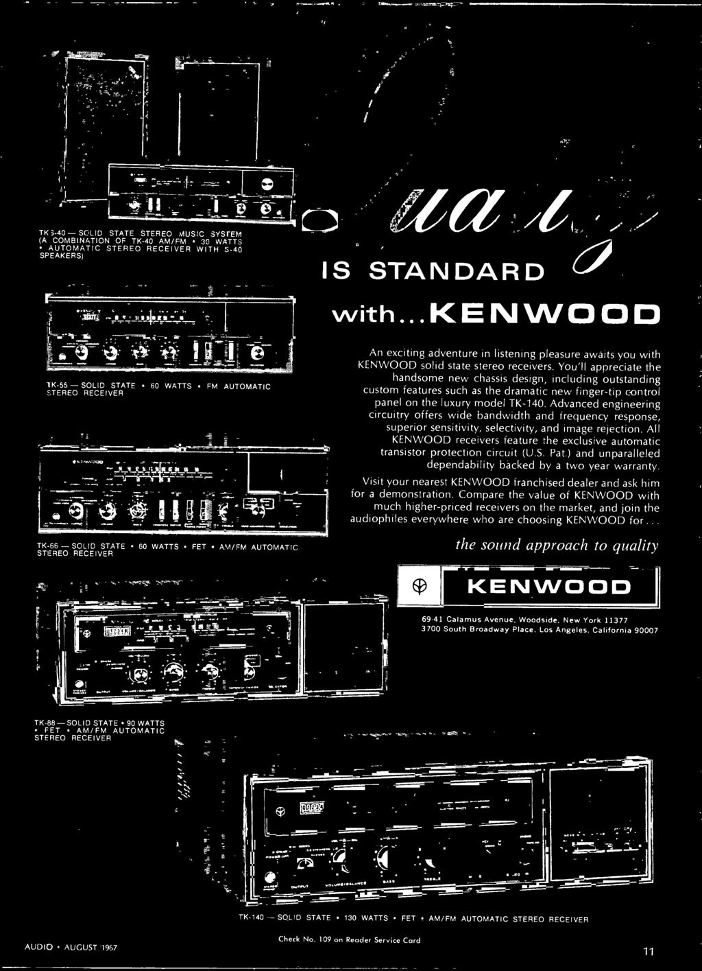 Stereo Hi Fi Preview Issue Pdf Otto Headset Wiring Diagram All Kenwood Receivers Feature The Exclusive Automatic Transistor Protection Circuit Us Pat And