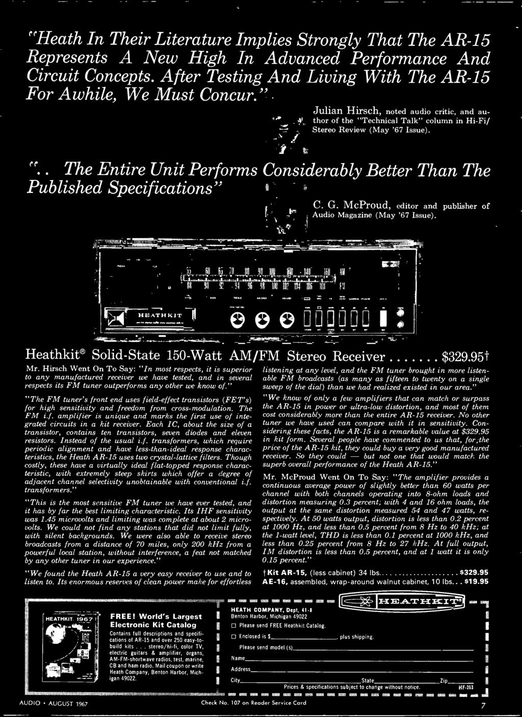 Stereo Hi Fi Preview Issue Pdf Am Fm Radio Kit And Training Course 1 Integrated Circuit 9 Hirsch Went On To Say In Most Respects It Is Superior Any