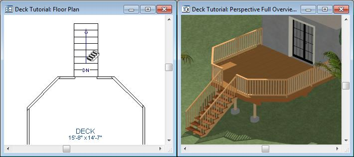 Home Designer Suite 2014 User s Guide 5. In most cases when using the Click Stairs tool, an opening will be added automatically to the deck railing at the top of a staircase. 6.