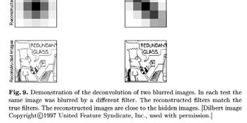 Blur prior Variational Bayesian approach Keeps track of uncertainty in estimates of image and blur by using a