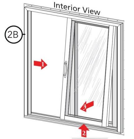 2 PREPARE THE WINDOW FOR INSTALLATION A. Remove the shipping protection from the window. Inspect the frame, fixed and vent panels for damage. DO NOT install damaged units.