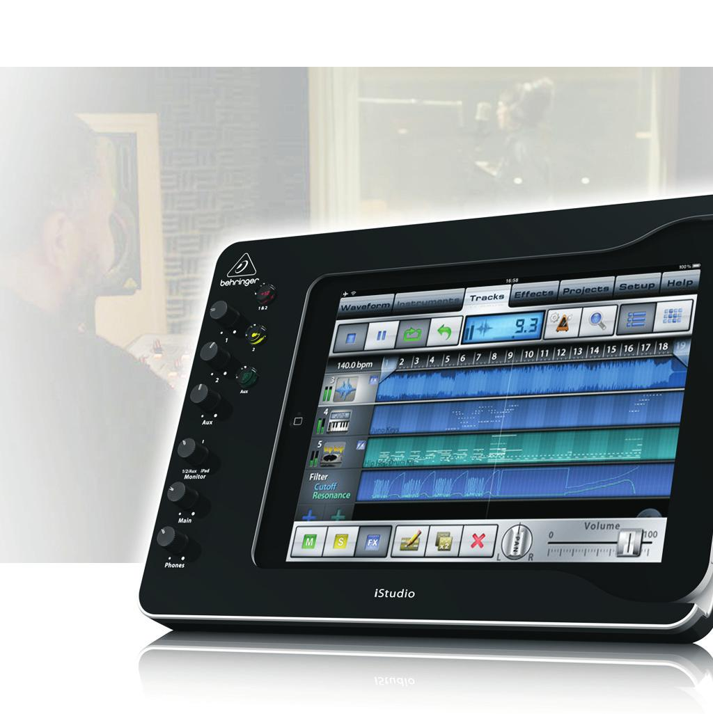 Complete and high-quality Music Studio for Apple ipad* (3rd generation), ipad 2 and ipad Connect your microphones, instruments and audio sources to virtually any audio/midi app Optional battery