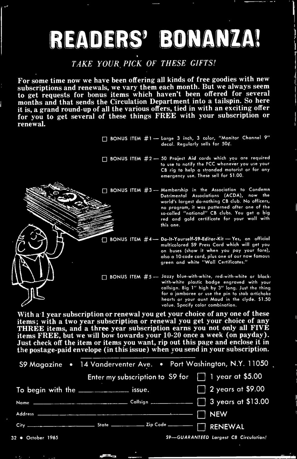 Official Cb Radio Magazine The Citizens Band Journal October 1965 Marx Generator Schematic And Pcb All Unmarked Resistors Are 1 Bonus Item 2 50 Project Aid Cards Which You Required To Use