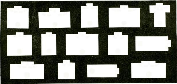 The placement of sound equipment as shown in Figs. I to 5, incl., is recommended for Churches; Figs. 6 to 8, incl., for Mortuaries: 9 to II, incl Auditoriums; 2 to 4, incl., for Ballrooms.