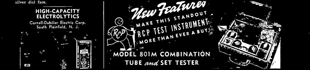 For what other instrument in its class, at its price, does all this' * Large 4/2 inch meter * New miniature tube tests * Tests all new and old tubes; all ballast tubes * Meter fused against burnout;