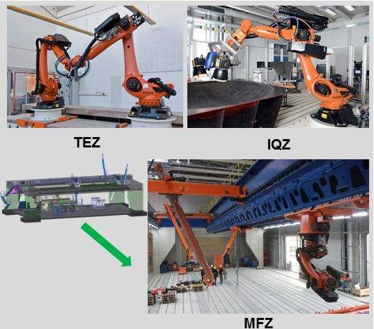 The new concept using thermography camera, which is also used for NDT, and a laser system mounted above the Robotic cell, helps to enhance the measurement position and orientation accuracy.