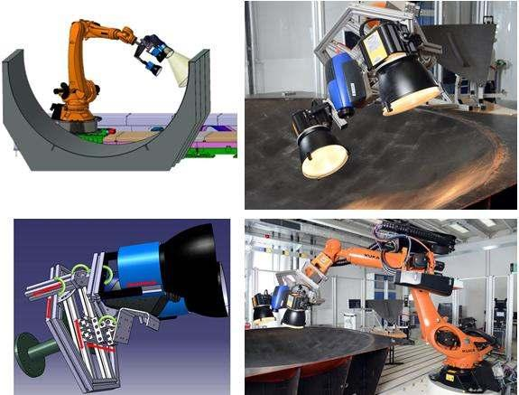 Figure 3: Robotic end-effector mounted on industrial robot The proposed system and schemes are evaluated and verified experimentally.