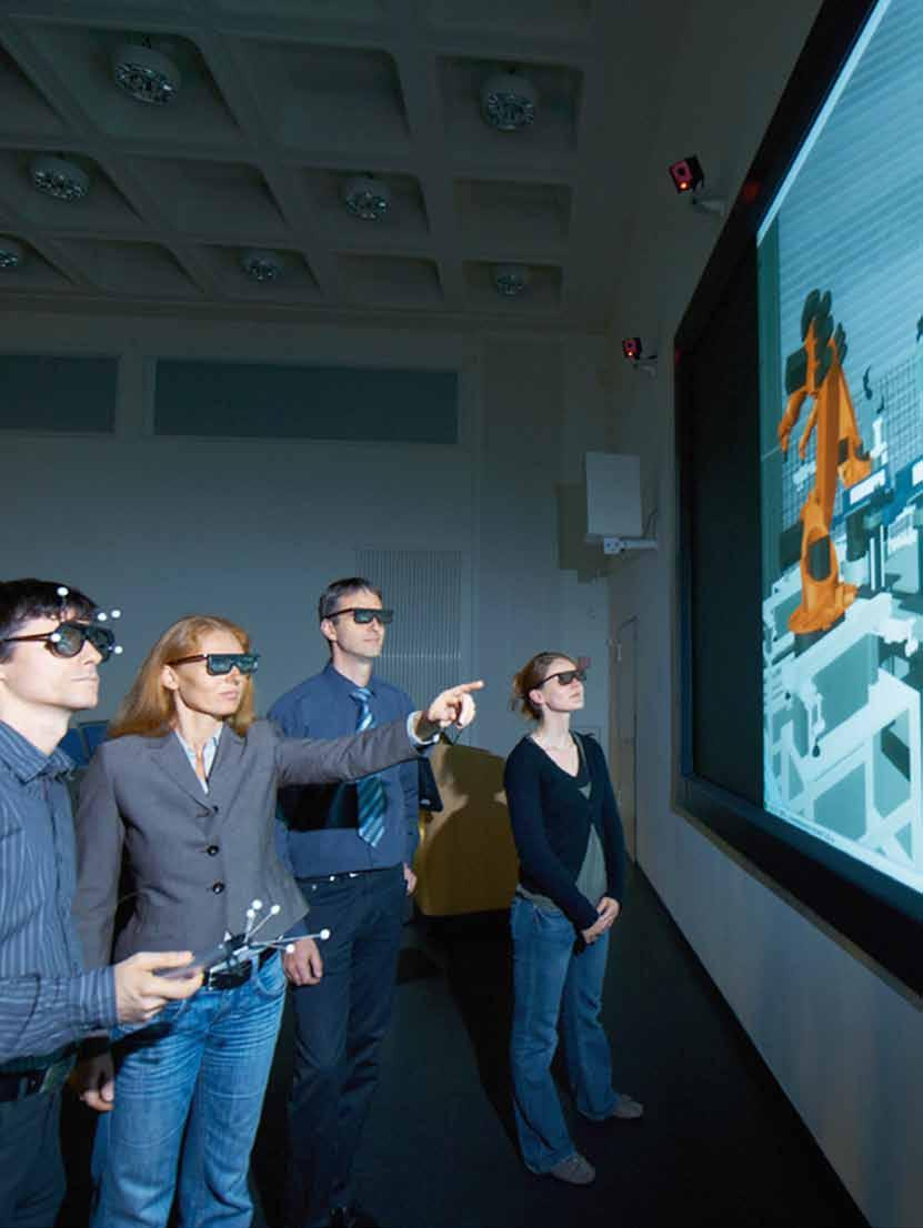 Markets Production research Factory for researchers In the virtual reality applications laboratory at the Fraunhofer