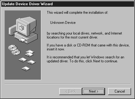 Turn on the scanner, then turn on the PC. 2. Start the Windows operating system. This step varies with your specific operating software... Windows 95 The New Hardware Found dialog box will appear.