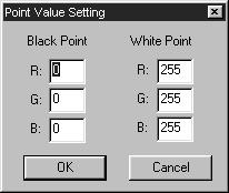 IMAGE CORRECTION TONE CURVES/HISTOGRAM Setting the White or Black Points This function allows you to correct the highlight or shadow point to the specified value.