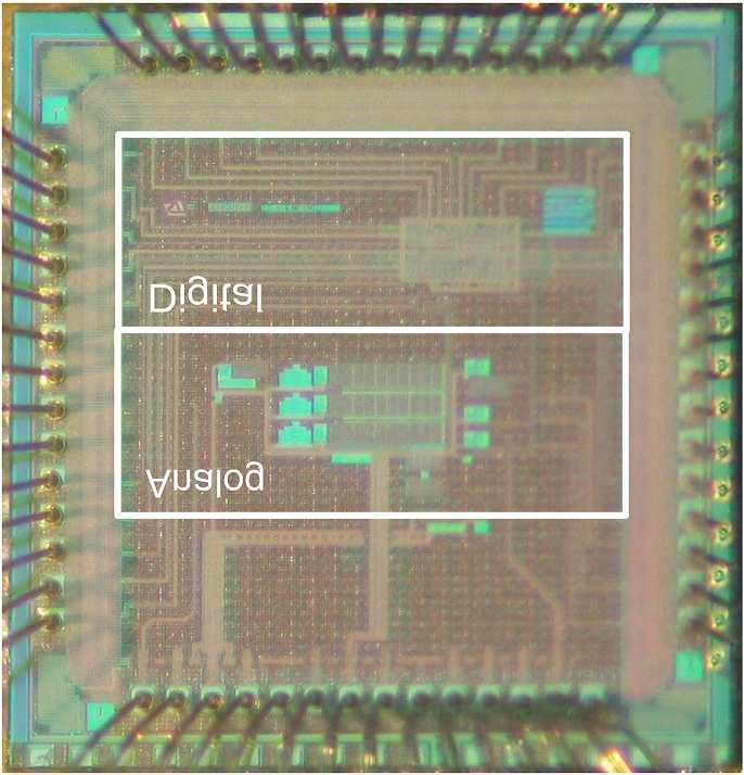Figure 5.3. Die photograph 5.2 Silicon Implementation Our baseband design for wireless sensor networks was fabricated in a 0.13µm CMOS process. The die photograph of the baseband is shown in Fig. 5.5. The chip area is pad limited to 2.