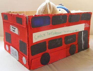 London Double Decker Bus Craft CRAFTS A double-decker bus has two levels or 'decks'. Red doubledecker buses are usually associated with London and have become a national symbol of England.