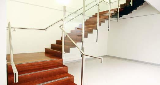 handrail offstand (variety available) Typically 50SHS3 stainless steel Mild or stainless steel