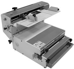 "Binding books from 5½"" to 14"" (140mm to 356mm) in width and from ¼"" through 9/16"" (6mm through 14mm) thickness, the HC-8370 closes the standard 3-1 pitch wire."