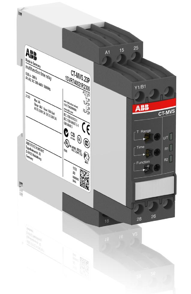 Data sheet Electronic timer CT-MVS.23 Multifunctional with 2 c/o (SPDT) contacts The CT-MVS.23 is a multifunctional electronic timer from the CT-S range.
