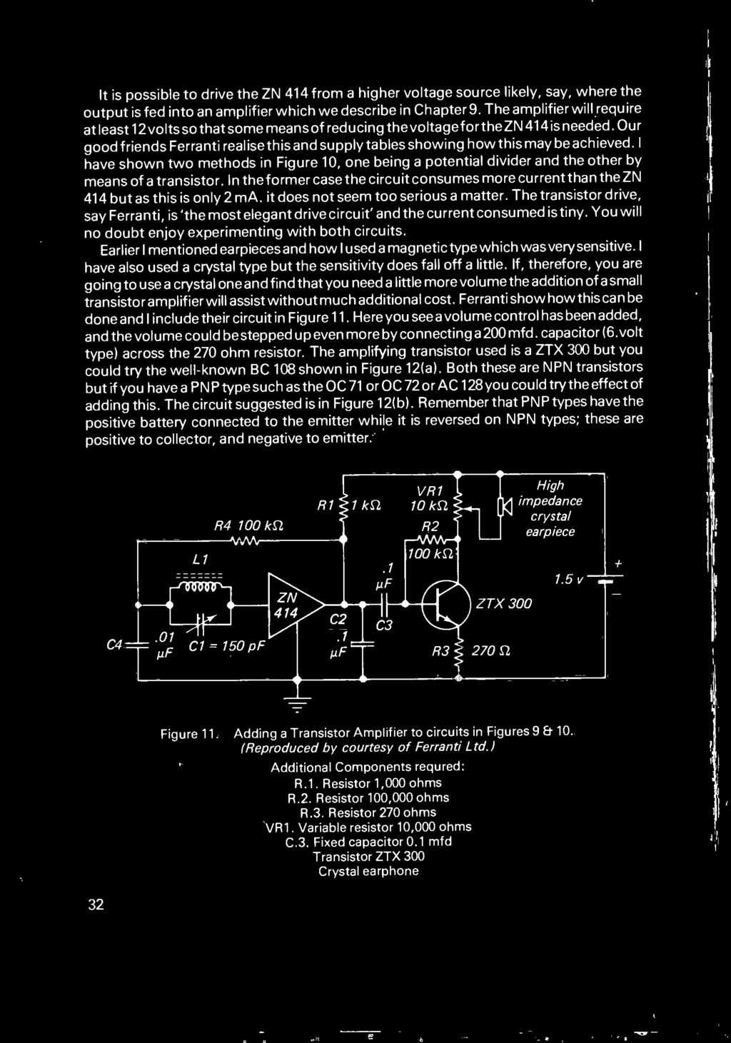 Fun With Silicon Chips In Modern Radio Pdf Zn414 Portable Am Receiver Circuit Our Good Friends Ferranti Realise This And Supply Tables Showing How May Be Achieved