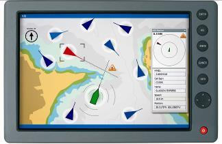What AIS Looks Like Each vessel is displayed in its position on the chart Targets constantly moving to reflect real time position and direction Warning of collision or