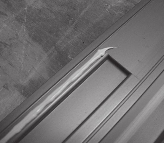 (see sliding door installation instructions) Fasten loosely in place at the