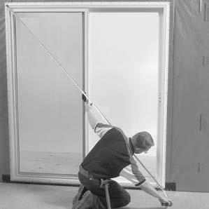 Door Installation All Units (cont.) FIGURE 4 4A 4B 4C 4. Continue holding unit securely in place. Square and plumb jambs. This can be done from the interior or exterior.