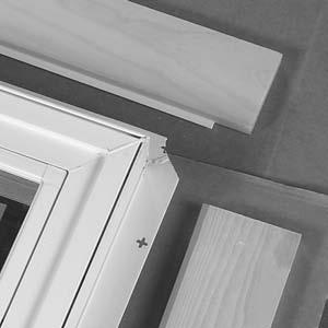 NOTE: A Casement window is shown, however the Jamb Extension application procedure is the same for these doors. NOTE: Jamb extension is not applied to the sill on door units.