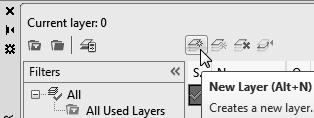 Click on the Current button to set layer Construction as the Current Layer. 6.