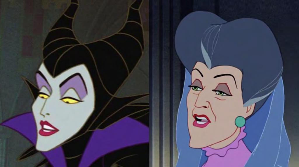 Appendix for Negative and Positive Non-traditional female figures Figure 27. Lady Tremaine and Maleficent have similar masculine facial qualities. Citations: Cinderella.