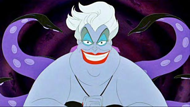 Figure 36. Ursula has overly plucked eye brows, they are arched, and she has big eyes.
