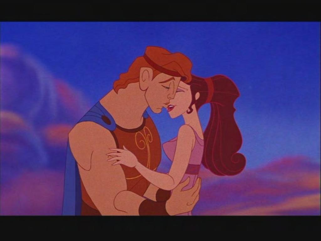 USA: Walt Disney Pictures, 1992. Film. Figure 21. Hercules and Meg passionately kissing implying their impending nuptials.