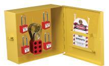 KRM LOTO MULTIPURPOSE LOCKOUT TAGOUT STATION Material-Mild steel with duly phosphate powder Resistant to corrosion. Front side Clear Fascia with border frame.