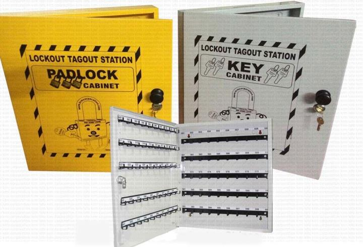 "KRM LOTO PORTABLE LOCKOUT TAGOUT STATION Material- Mild steel with duly phosphate powder Resistant to corrosion. Size 18"" X 15"" X 2"" Provision of metal hooks slots on both sides. No."
