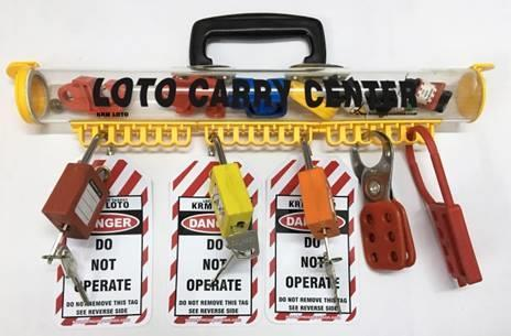 KRM LOTO LOCKABLE LOTO CARRY PERMIT CENTER / LOTO CARRY CENTER / LOTO PADLOCK