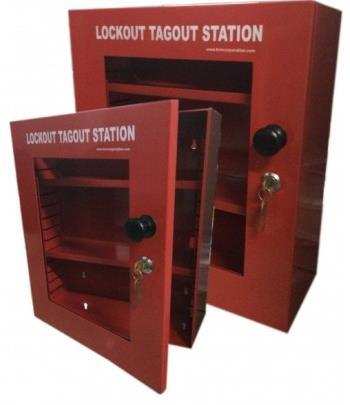 KRM LOTO-LOCKOUT TAGOUT STATION Material- Mild steel with duly phosphate powder Resistant to corrosion.