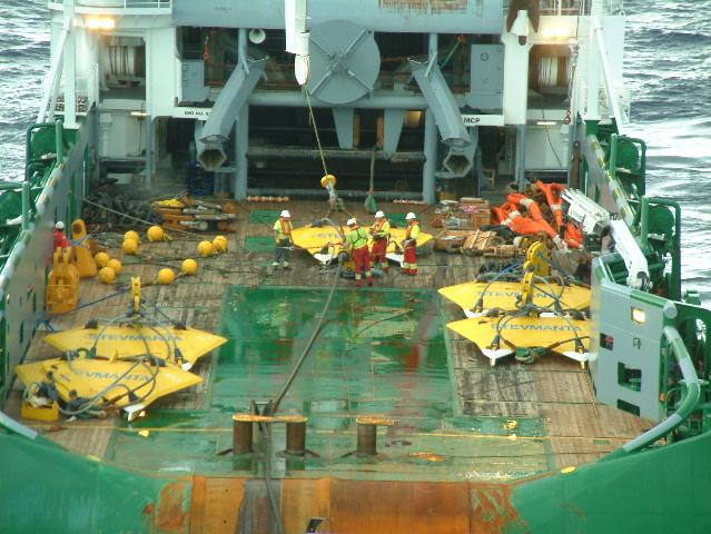 CONCLUSION. For FPSO Fluminense offshore Brazil, 11 m 2 Stevmanta VLAs have successfully been installed using subsea connectors in a chain polyester mooring system.