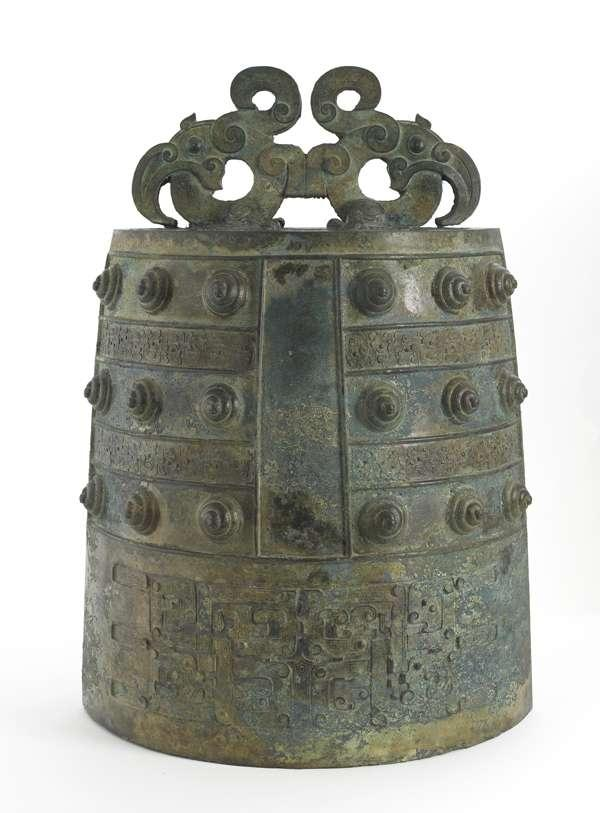 21 inches high Right: Bronze Bell, Eastern