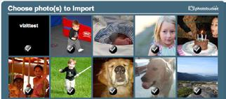 Copy Menu Under Import Photos from Web, you can login to your accounts on other photo sites, and