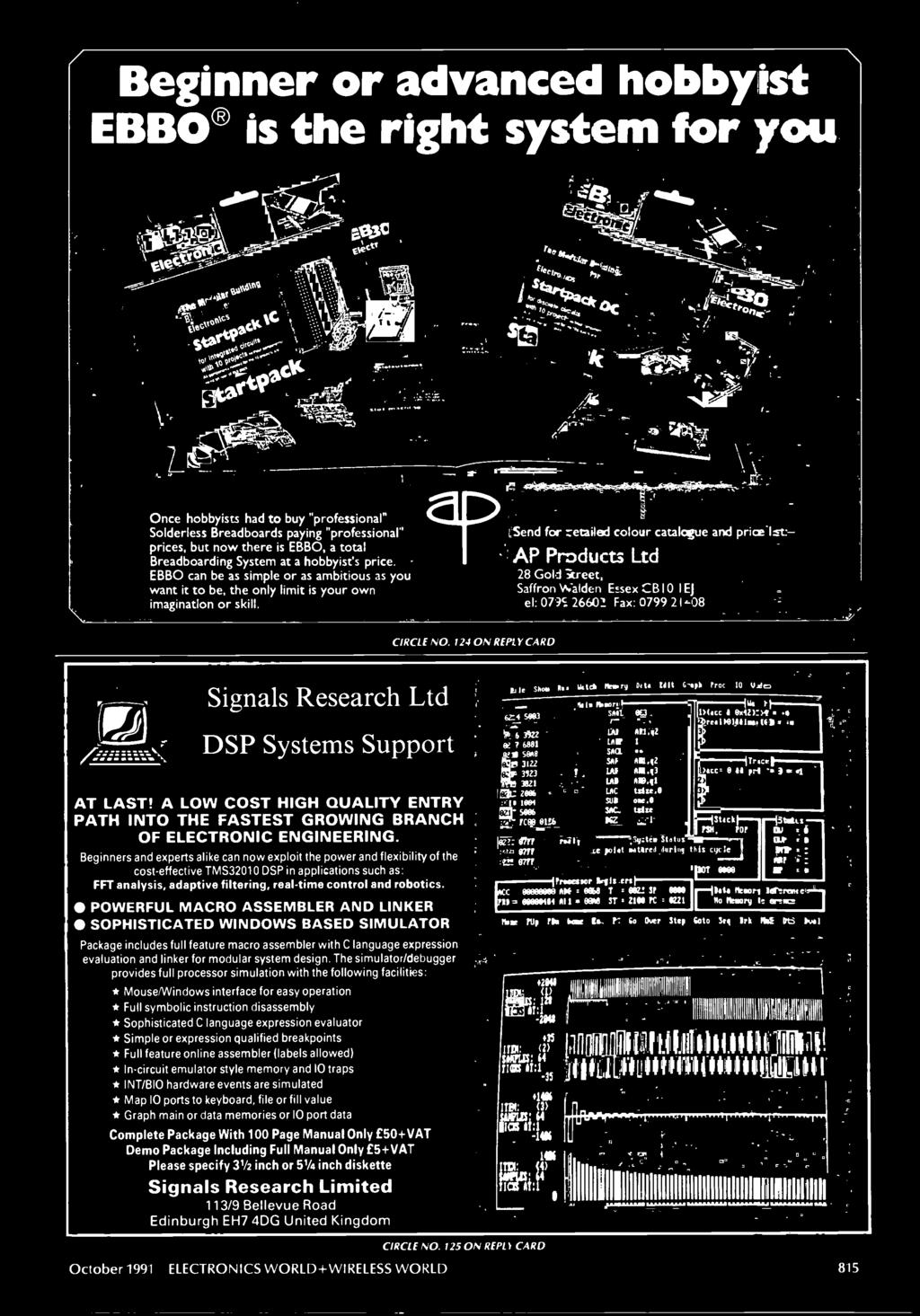 Ele N Wireless World Transformers Electric Fields And Re Compressor Electrical Question In Reply To George Marsh 0105 124 On Card Signals Research Ltd Dsp Systems Support At Last A Low Cost