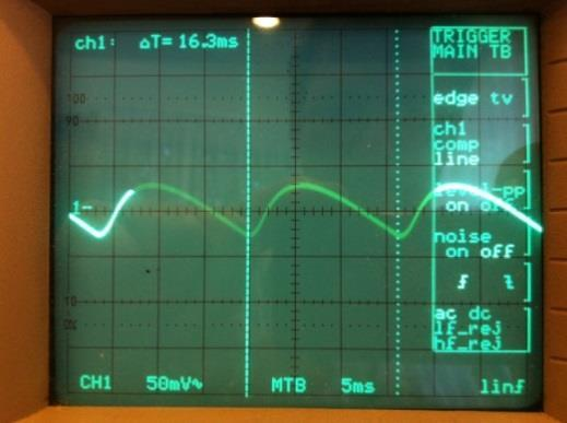 6~8 show the waveforms on the +ve supply rail before and after the filter while the amplifier is delivering 60 W into 8 Ω at 20 khz.