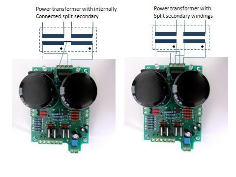 Figure 22 - Power Transformer secondary hookup wiring The simplicity of the nx-amp means, other than the power supply and housing, the amplifier boards can be built for around $40 each, and the