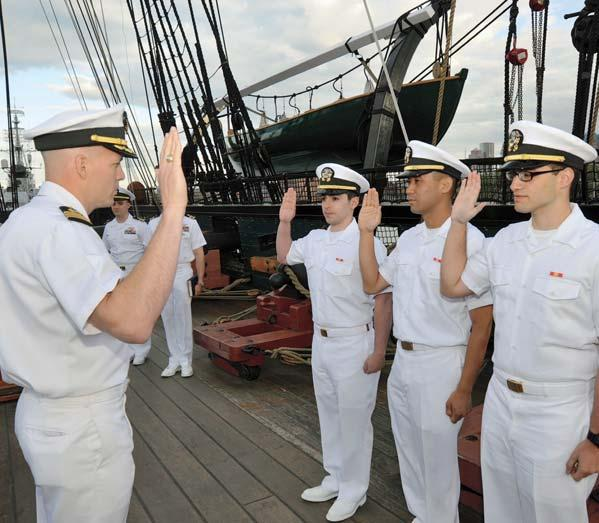 An oath to the Constitution, aboard the Constitution Cmdr. MI