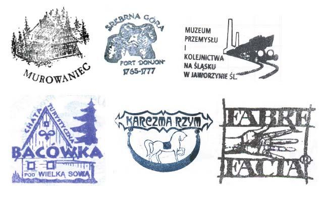 Paweł Forczmański 63 second group (see Fig. 2) are more fancy, irregularly-shaped, with decorative fonts and complex patterns. Fig. 1. Examplary official stamps. Fig. 2. Examplary unofficial stamps.