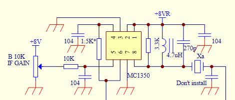 Step 4: RX IF Amplifier The core component is an MC1350.
