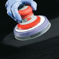 Scratch Refinement Refine the P1500 scratches with a DA and a P3000 3M Trizact Foam Disc used damp with a soft interface pad. Wipe surface clean with a yellow microfibre cloth.
