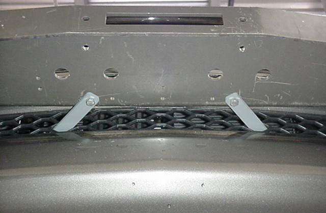 Strap Extensions inserted thru grille mesh Photo 7 8.