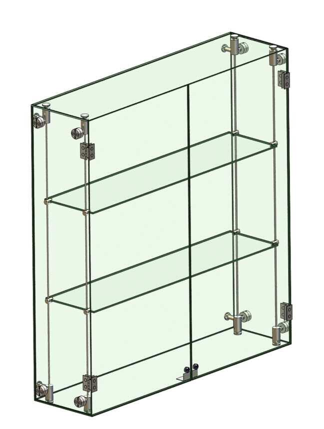 ACCESSORIES P A G E 4 0 Accessories Glass Cabinets Cabinets 600mm h x 1150mm w x 300mm deep. Lighting optional.