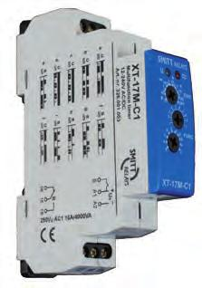 Mulifuncion Insananeous XT-relays XT-17M-C1 Mulifuncion, 10 funcions 16 A, 1 changeover conac Mulifuncion ime relay equipped wih 10 funcions, adjusable ime delay and universal supply volage.