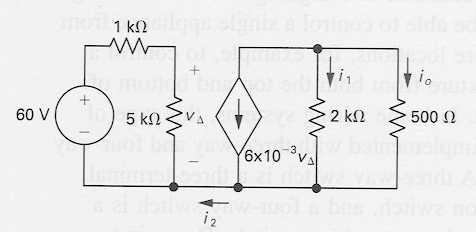 Circuit w/ Dependent Source Exmple Find i 2, i 1 nd i o EE40 Summer 2006: Lecture 3 Instructor: Octvin Florescu 3 Lecture #3 OUTLINE KCL, KVL