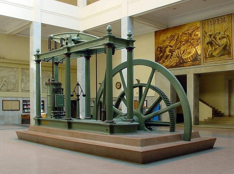 Steam Engine James Watt Developed from 1763 75 Used a coal fired boiler to create steam and crank a