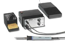 our modular systems (see page 15) The electronically temperaturecontrolled HS 8000 G hot-air soldering and desoldering station is the competent tool to solder a n d desolder small to medium-sized